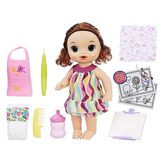 Baby-Alive-Pequena-Artista-Morena---Hasbro
