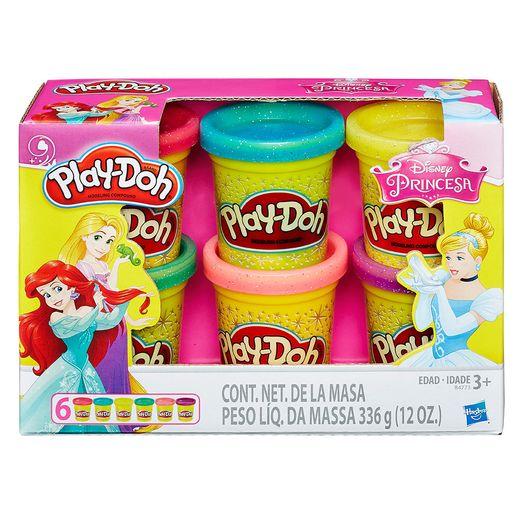 Play-Doh-Princesas-Disney-Pack-Com-6-Potes---Hasbro