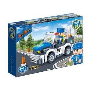 Carro-Policial-100-Pecas---Banbao