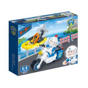 Policia-Moto-e-Barco-62-Pecas---Banbao