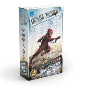 Quebra-Cabeca-Liga-da-Justica-The-Flash-200-Pecas---Grow