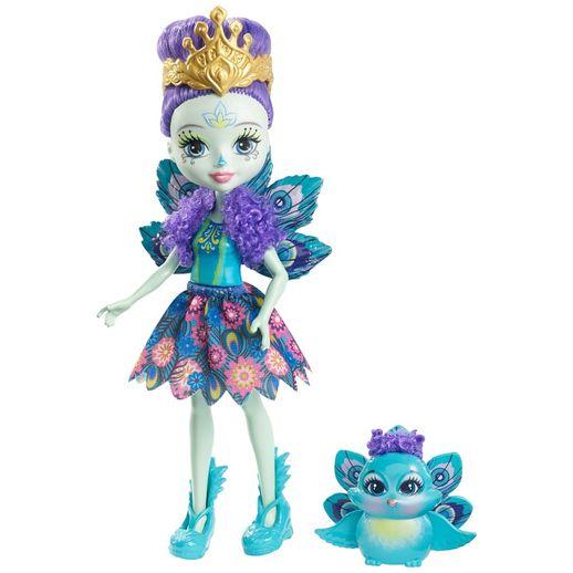 Enchantimals-Boneca-e-Bichinho-Patter-Peacock---Mattel