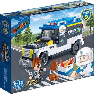 Blocos-De-Montar-Carro-De-Policia---Banbao