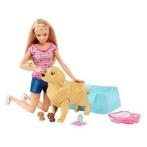Barbie-Loira-Familia-Filhotinhos-Recem-Nascidos---Mattel