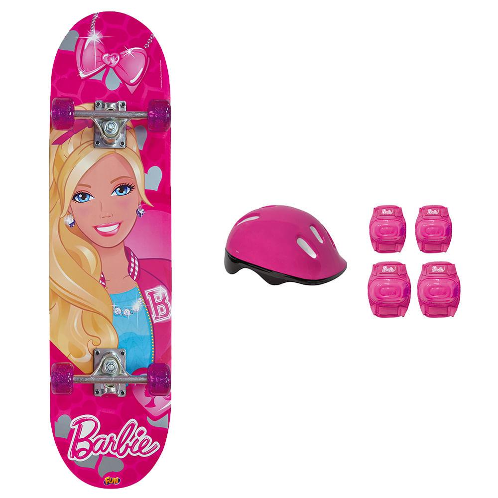 5235ce2daf1 Barbie Skate com Acessórios e Adesivos Glitter