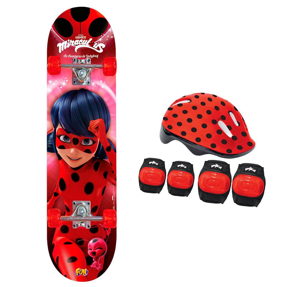33d5c0f903c03 Skate Ladybug com Acessórios - Fun Divirta-se