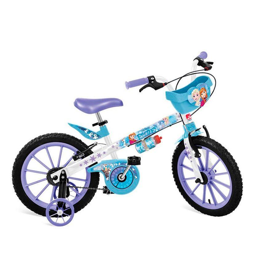 8331cb12f Bicicleta Aro 16 com Rodinhas e Cestinha Frozen - Bandeirante - Toymania