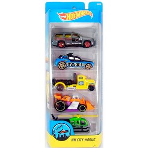 Hot-Wheels-Pack-Com-5-Carros-City---Mattel