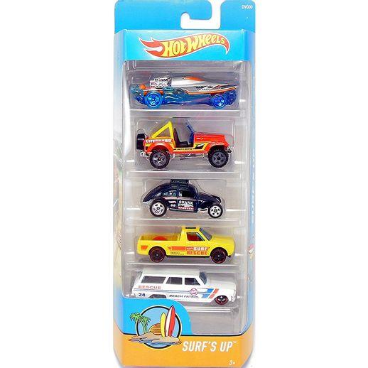 Hot-Wheels-Pacote-com-5-Carros---Mattel