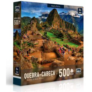 Quebra-Cabeca-500-Pecas-Maravilhas-do-Mundo-Moderno---Machu-Picchu---Toyster-