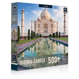 Quebra-Cabeca-500-Pecas-Maravilhas-do-Mundo-Moderno---Taj-Mahal---Toyster