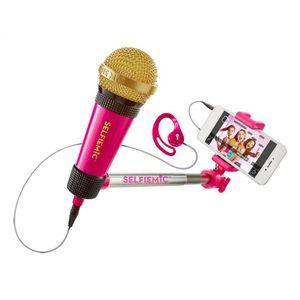 Microfone-Selfie-Mic-Rosa---Estrela