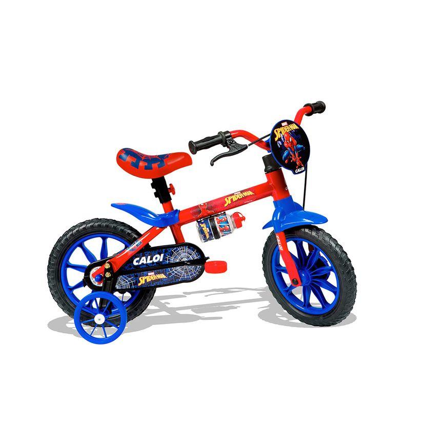 504397b46 Bicicleta Aro 12 com Rodinhas Homem Aranha - Caloi - Toymania