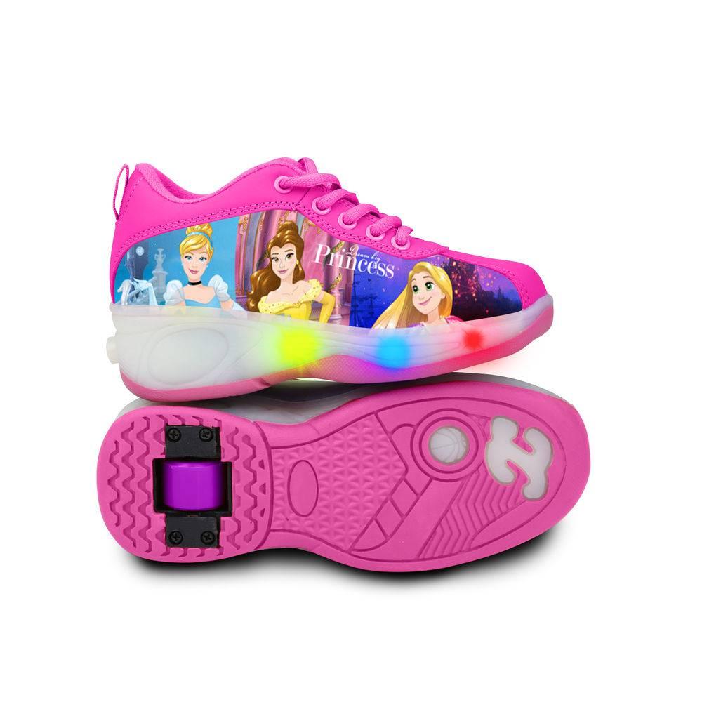 22697dc1328 Tênis Princesas Disney com Luzes e Rodinhas Tamanho 36 - DTC ...