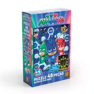 Puzzle-48-pecas-PJ-Masks-Glow-in-the-Dark---Grow