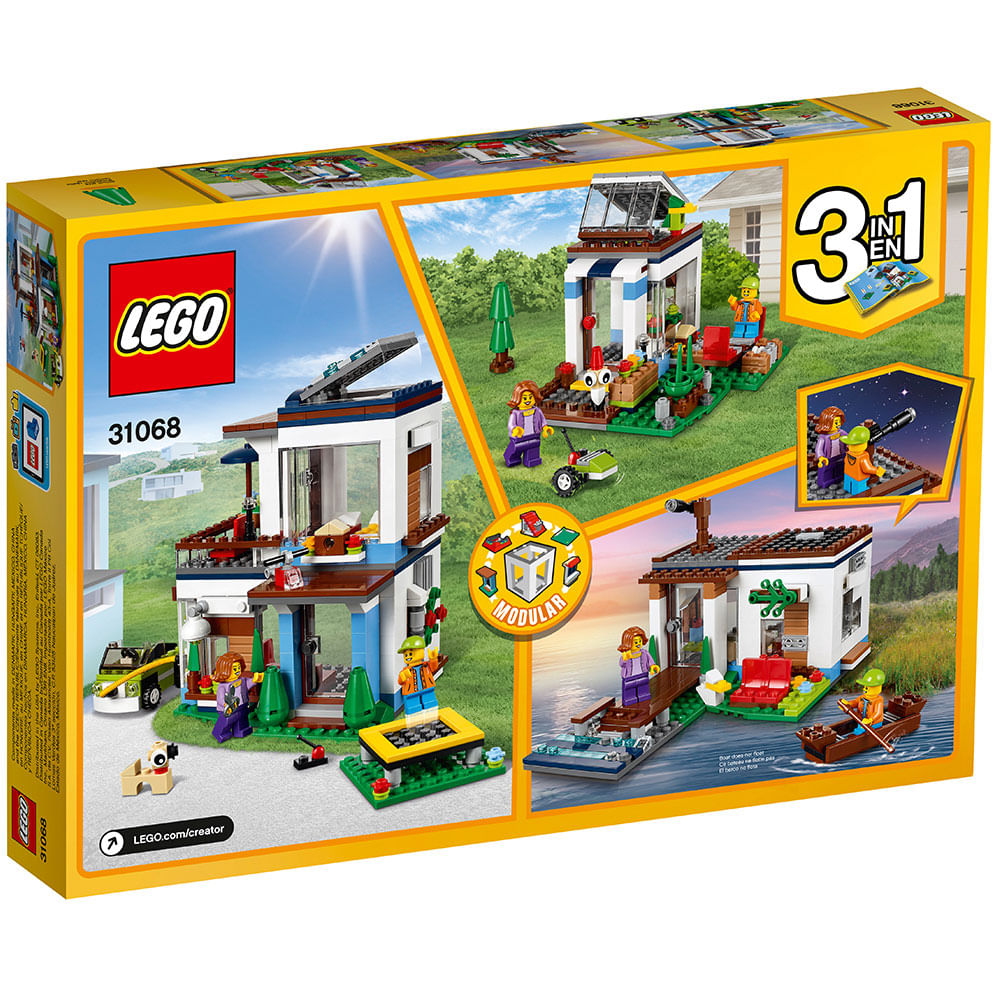 Lego creator 31068 casa moderna lego toymania toymania for Casa moderna lego
