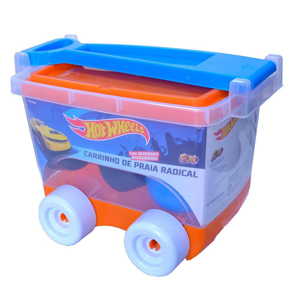 3fb45f0ce Hot Wheels Kit Praia Carrinho Baú - Fun Divirta-se