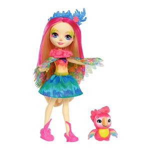 Enchantimals-Boneca-e-Bichinho-Peeki-Parrot---Mattel