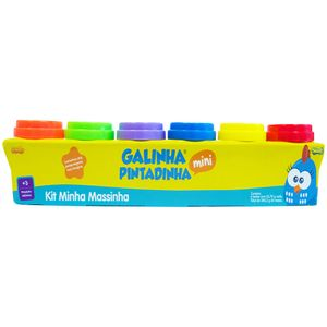 Kit-Minha-Massinha-Galinha-Pintadinha-6-Potes---Sunny