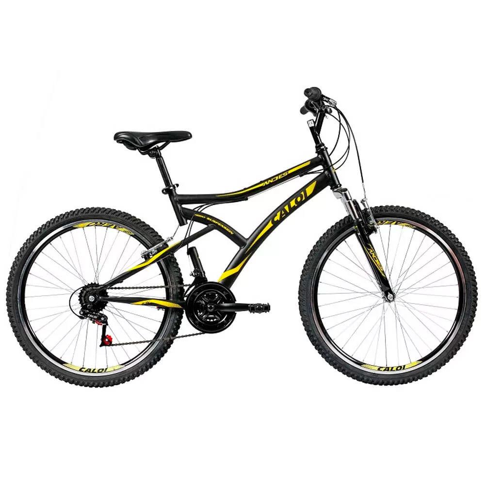 Bicicleta Aro 26 - 21 Marchas T-Type Mountain Bike Preta - Caloi - Toymania 8b9823a683789