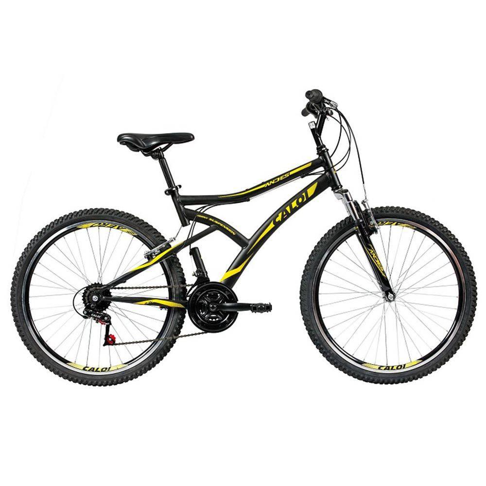92164c9d2 Bicicleta Aro 26 - 21 Marchas com Suspensão Dianteira Andes Mountain Bike  Preta - Caloi - Toymania