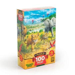 Puzzle-100-Pecas-Filhotes-da-Savana---Grow