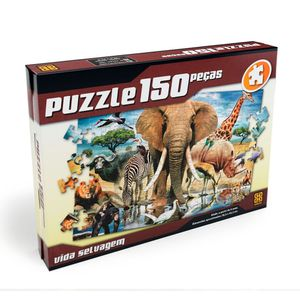 Puzzle-150-pecas-Vida-Selvagem---Grow