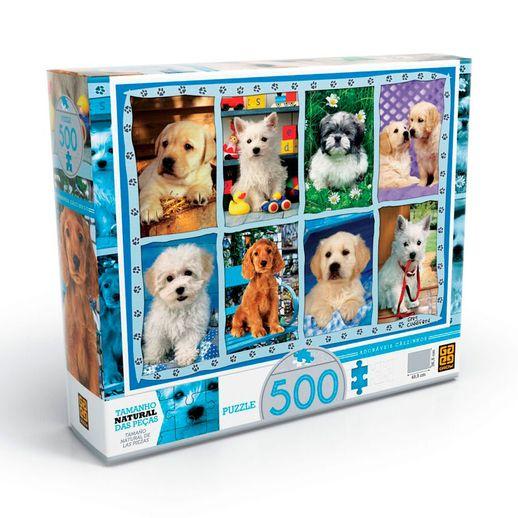 Puzzle-500-pecas-Adoraveis-Caezinhos---Grow