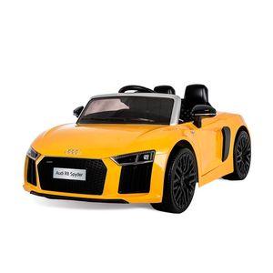 Audi-R8-Spyder-Amarelo-Eletrico-12V-Radio-Controle---Bandeirante
