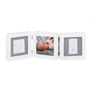 Porta-Retrato-com-Molde-2P-My-Baby-Touch-White---Grey---Baby-Art