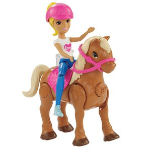 Barbie-On-The-Go-Ponei-Marrom-Claro-e-Boneca---Mattel