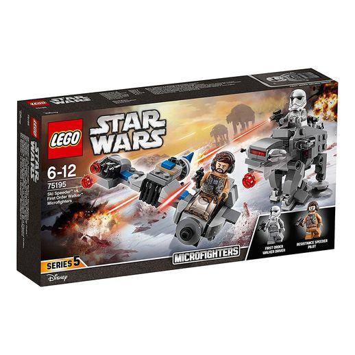 Lego-Star-Wars-75195-Microfighters-Ski-Speeder-Vs.-Walker-De-Assalto-Da-Primeira-Ordem---Lego