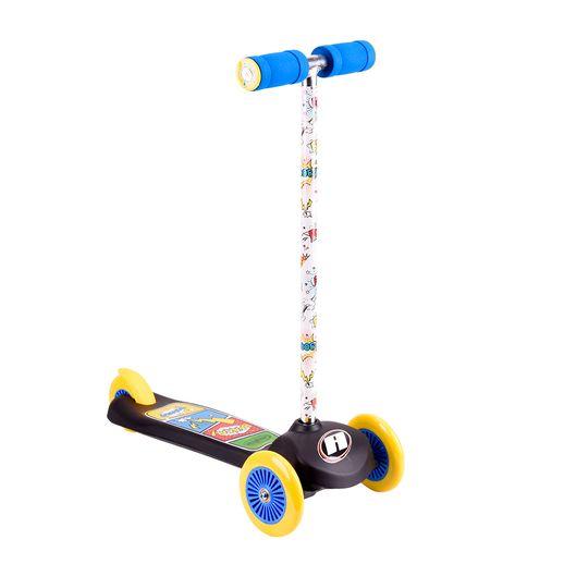 Patinete-Comics-Triwheels-Preto---Astro-Toys