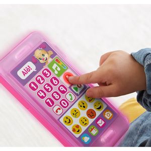 Fisher-Price-Telefone-com-Emojis-Rosa---Mattel