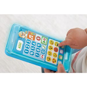 Fisher-Price-Telefone-com-Emojis-Azul---Mattel
