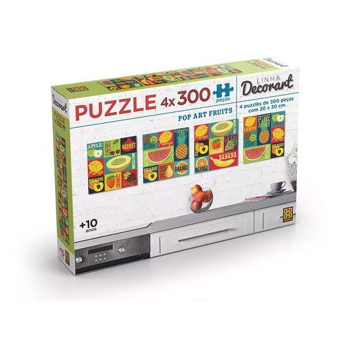 Quebra-Cabeca-4-x-300-pecas-Decorart-Pop-Art-Fruit---Grow