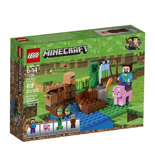 Lego-Minecraft-21138-A-Fazenda-Dos-Meloes---Lego