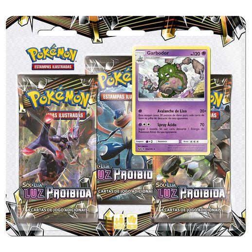 Pokemon-Blister-Triplo-Sol-e-Lua-Luz-Proibida-Garbodor---Copag