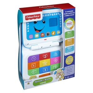 Laptop-Cinza-Fisher-Price-Aprender-e-Brincar---Mattel