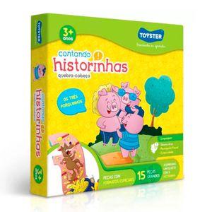 Quebra-Cabeca-Contando-Historinhas-3-Porquinhos-15-Pecas---Toyster