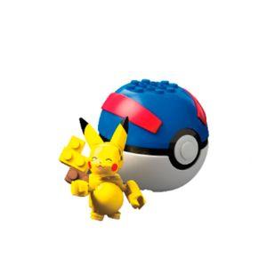 Mega-Construx-Pokebola-Pikachu---Mattel