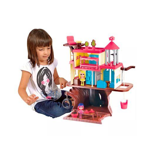 Playset-Casa-da-Floresta-com-Mini-Bonecas---Brinquedos-Chocolate