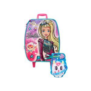 Mochila-de-Rodinhas-Infantil-Barbie-Aventura-nas-Estrelas-Rosa-e-Prata---Sestini