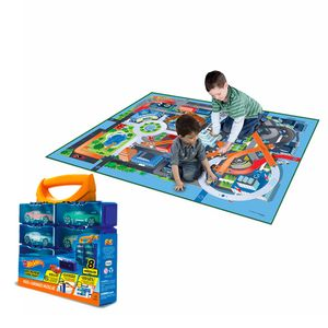 Kit-Hot-Wheels-Tapete-Emborrachado-com-Porta-Carrinhos-Modular---Fun-Divirta-se