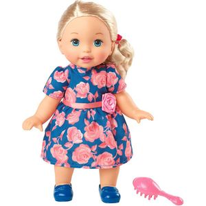 Little-Mommy-Doce-Bebe-Loira-Vestido-Azul-com-Rosas---Mattel