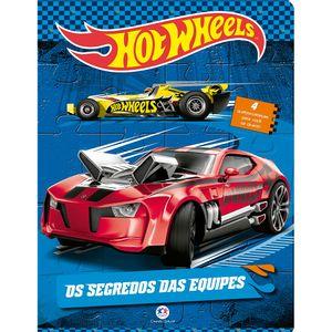 Livro-com-Quebra-Cabeca-Hot-Wheels---Os-segredos-das-equipes---Ciranda-Cultural