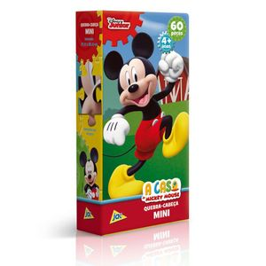 Mini-Quebra-Cabeca-A-Casa-do-Mickey-Mouse-Mickey-60-Pecas---Toyster