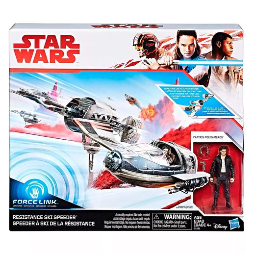 Star-Wars-Veiculo-E-Figura-Ski-Speeder-Resistance-EP8-Force-Link-Classe-C---Hasbro