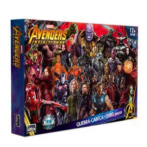 Quebra-Cabeca-Os-Vingadores-Guerra-Infinita-Marvel-2000-Pecas---Toyster