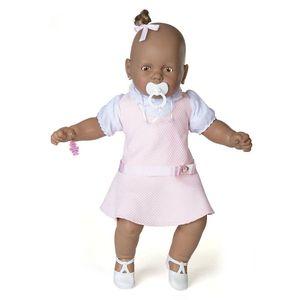 Boneca-Meu-Bebe-Negro-Vestido-Rosa---Estrela